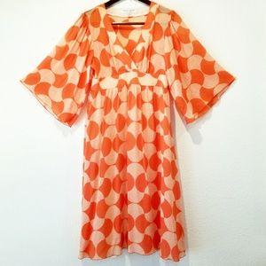 1960's Inspired Bell Sleeve Dress